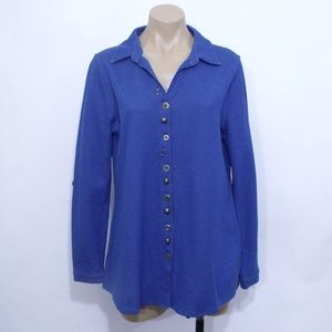 Soft Surroundings Blue Sydney Shirt